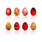 Conjunto de los huevos de Pascua Fotografía de archivo