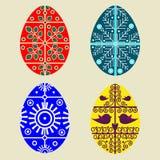 Conjunto de los huevos de Pascua coloridos ilustración del vector