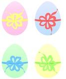 Conjunto de los huevos de Pascua en color en colores pastel ilustración del vector