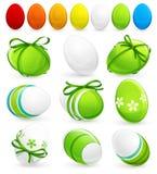 Conjunto de los huevos de Pascua. Vector ilustración del vector