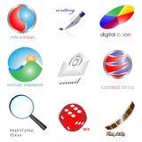 Conjunto de los iconos 3d Imagenes de archivo