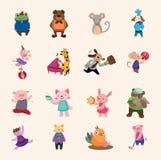 Conjunto de los iconos animales Imagen de archivo