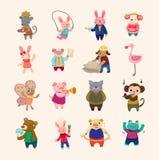 Conjunto de los iconos animales Fotografía de archivo