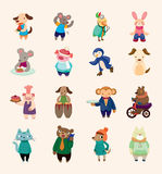 Conjunto de los iconos animales Fotos de archivo