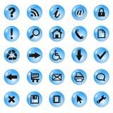 Conjunto de los iconos, botones stock de ilustración