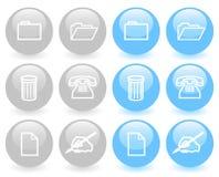 Conjunto de los iconos brillantes (ver 1) Fotografía de archivo libre de regalías