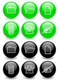 Conjunto de los iconos brillantes (ver 2) Imagen de archivo