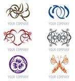 Conjunto de los iconos del tatuaje para el diseño de la insignia Imagen de archivo libre de regalías