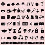 Conjunto de los iconos del Web libre illustration