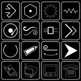 Conjunto de los iconos (electrónica, equipo, otra) Imágenes de archivo libres de regalías