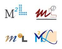 Conjunto de los iconos M y L de la carta Imagen de archivo libre de regalías