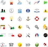 Conjunto de los iconos para el Web site Stock de ilustración