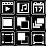 Conjunto de los iconos (película, otras) Fotos de archivo libres de regalías