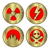 Conjunto de los iconos (peligro) Imagenes de archivo