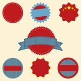 Conjunto de los iconos retros en blanco de la insignia del vintage para el logotipo, l Foto de archivo libre de regalías