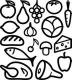 Conjunto de los ingredientes alimentarios Foto de archivo libre de regalías