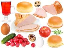 Conjunto de los ingredientes alimentarios Imagenes de archivo