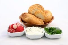 Conjunto de los ingredientes alimentarios Fotos de archivo libres de regalías