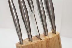 Conjunto de los knifes de la cocina para el cocinero Imágenes de archivo libres de regalías