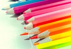 Conjunto de los lápices del color para la creatividad Imágenes de archivo libres de regalías