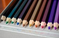 Conjunto de los lápices del color para la creatividad Fotografía de archivo