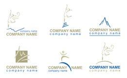 Conjunto de los logotipos para las compañías Foto de archivo