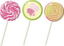Conjunto de los lollipops Imágenes de archivo libres de regalías
