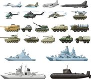 Conjunto de los militares Fotos de archivo libres de regalías