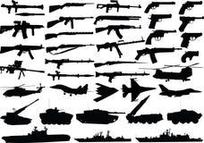 Conjunto de los militares Foto de archivo