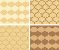 Conjunto de los modelos amarillentos del vector - texturas geométricas Foto de archivo