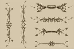 Conjunto de los modelos para el diseño Ilustración del Vector
