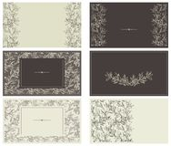 Conjunto de los modelos para las tarjetas de visita Imagen de archivo libre de regalías