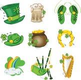 Conjunto de los motivos para el día del St. Patrick Fotografía de archivo