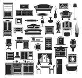 Conjunto de los muebles ilustración del vector
