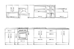 Conjunto de los muebles de los muebles set stock de ilustración