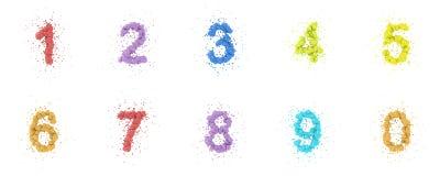 Conjunto de los números Imagen de archivo libre de regalías