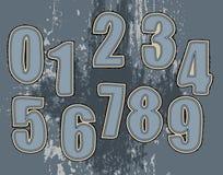 Conjunto de los números para la materia textil Fotografía de archivo libre de regalías