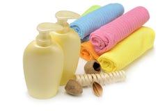 Conjunto de los objetos para la higiene personal Imagen de archivo
