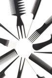 Conjunto de los peines, accesorios del peinado Fotografía de archivo