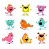Conjunto de los pequeños monstruos lindos 2 Fotos de archivo