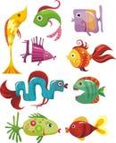 Conjunto de los pescados Imagen de archivo libre de regalías