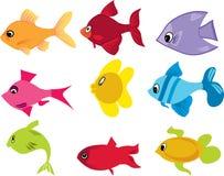 Conjunto de los pescados Imagenes de archivo