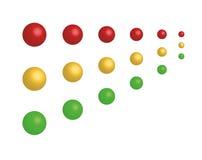 Conjunto de los semáforos - iconos en línea del departamento Imagenes de archivo