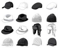 Conjunto de los sombreros Fotos de archivo