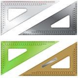 Conjunto de los triángulos para elaborar y dirigir Imagen de archivo