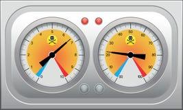 Conjunto de los velocímetros del coche, tahometers para el diseño que compite con. Vector IL Imagenes de archivo
