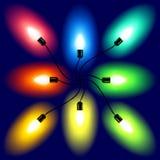 Conjunto de luces de la Navidad. Vector. Imagen de archivo libre de regalías