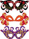 Conjunto de máscaras del carnaval Ilustración del Vector