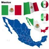Conjunto de México. ilustración del vector