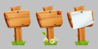 Conjunto de madera de la muestra Sistema del icono del vector libre illustration
